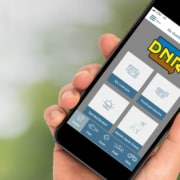 Iowa DNR Mobile App in Hand